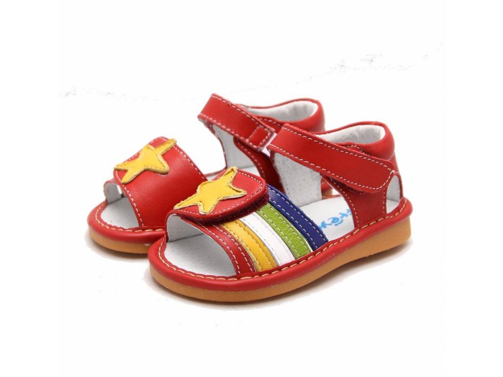 c74377d077 Červené sandálky Hviezda - Freycoo - Zdravé detské nôžky