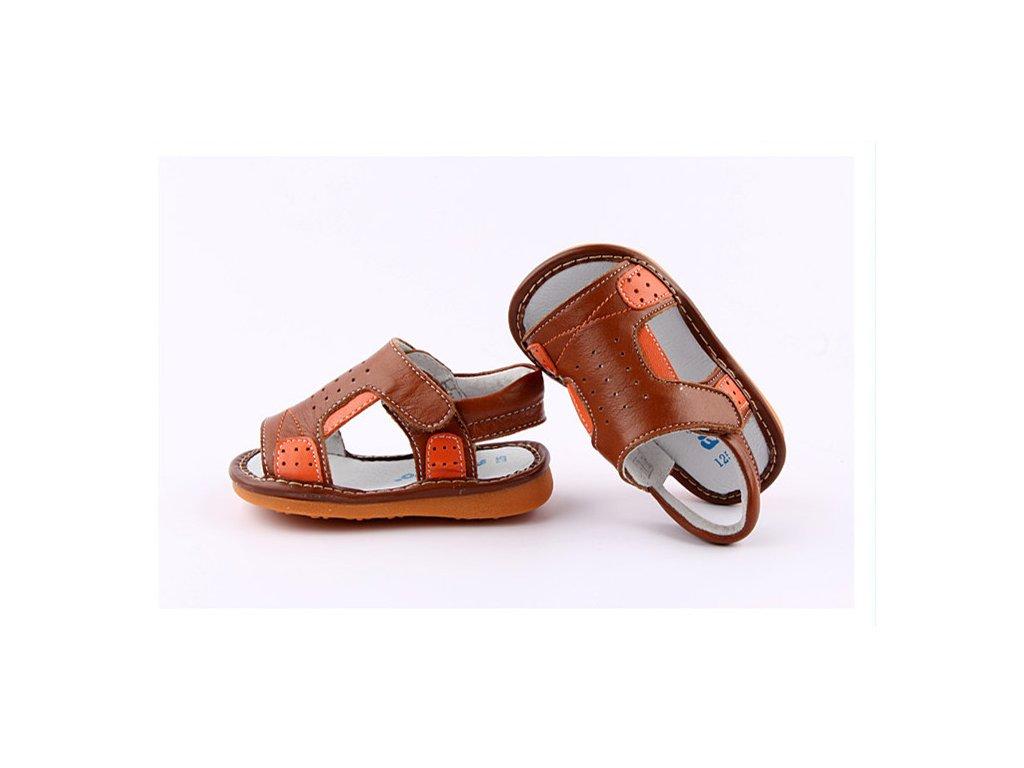 23d126850e3e Hnedé sandálky - Freycoo - Zdravé detské nôžky