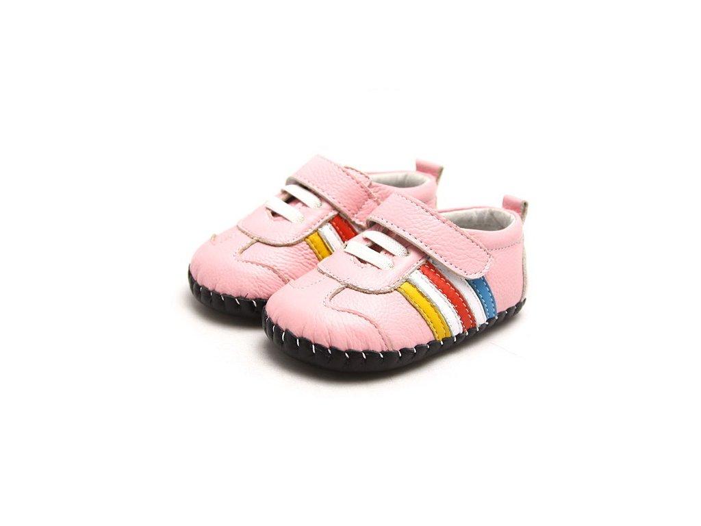 2f79888f3051 Športové topánočky s pásikmi - ružová - Freycoo - Zdravé detské nôžky
