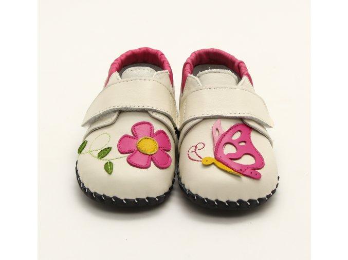 Topánočky Motýľ - krémová - Freycoo