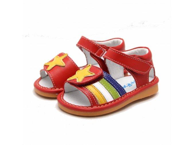 Červené sandálky Hviezda - Freycoo