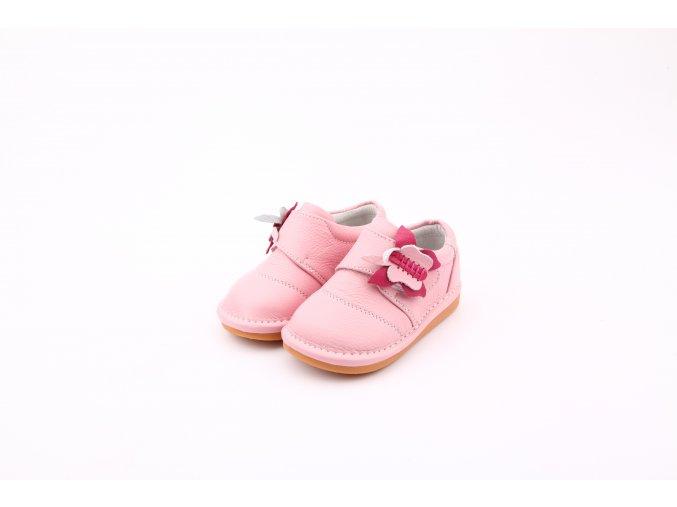 Ružové topánočky Motýľ - Freycoo