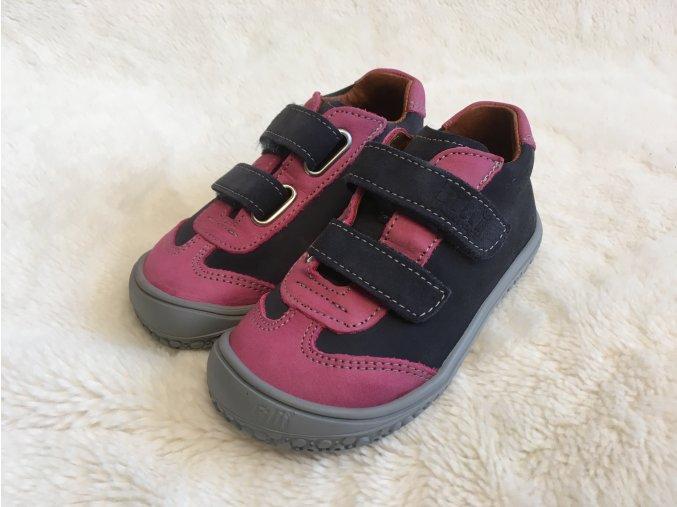 Tenisky ocean/pink Velours W - Filii Barefoot