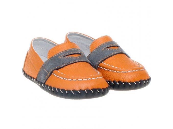 Topánky - oranžová - Little Blue Lamb