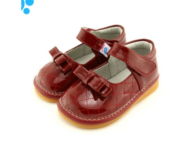 Červené prešívane topánočky - Freycoo