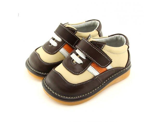 Hnedo-béžové topánky - Freycoo