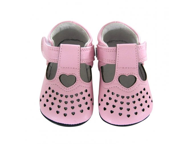 Gianna t-strap tiny hearts pink - Jack and Lily