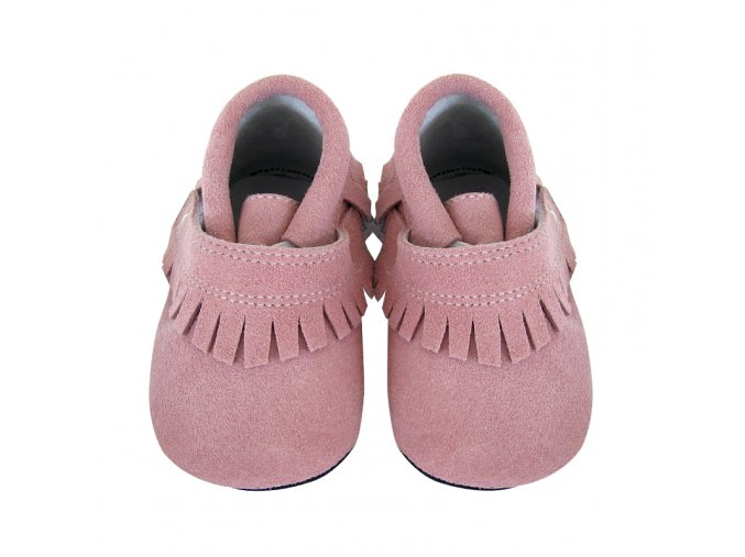 Sofia fringe pink suede - Jack and Lily