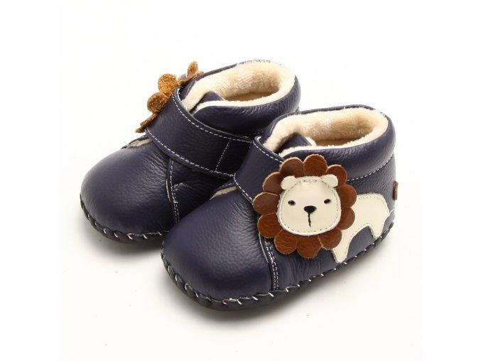 Topánočky lev - tmavomodrá - Freycoo