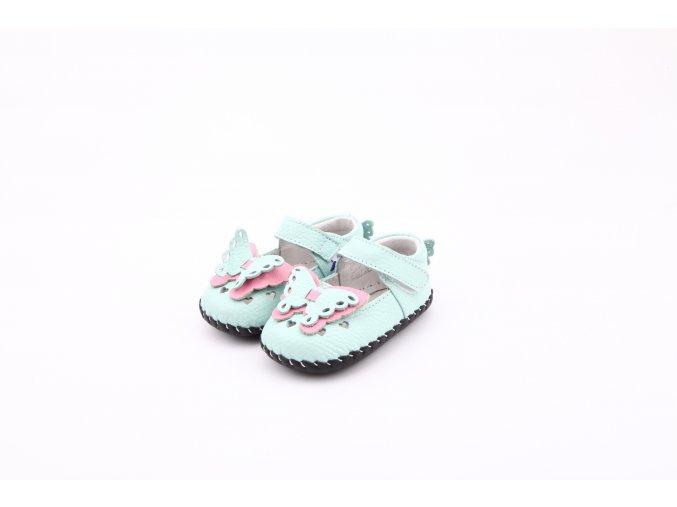 Topánky Motýlik - modrá - Freycoo