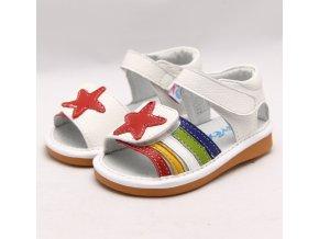 7fdf0609a4 Biele sandálky Hviezda - Freycoo