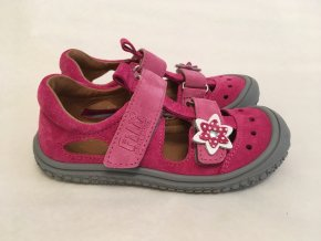 Sandálky pink/rose flower M - Filii Barefoot