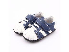 Športové topánočky s pásikmi - modrá - Freycoo