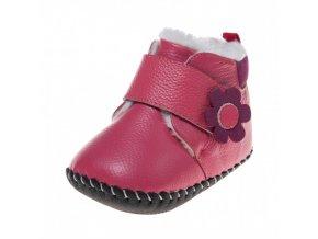 Ružové topánočky s kvietkom - Little Blue Lamb